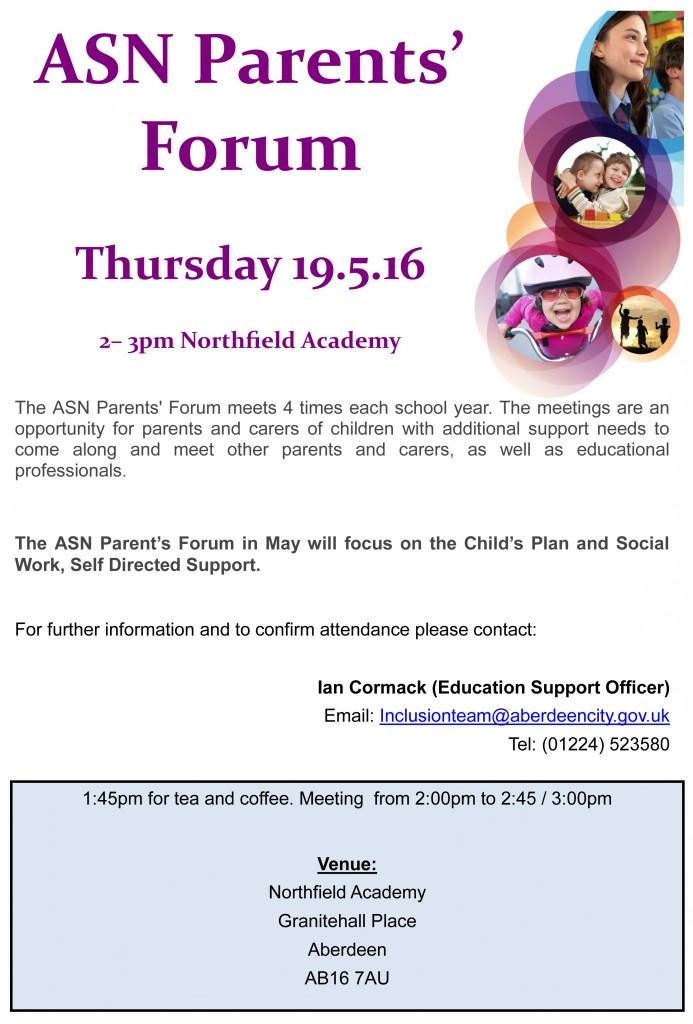 ASN Parents' forum May 2016