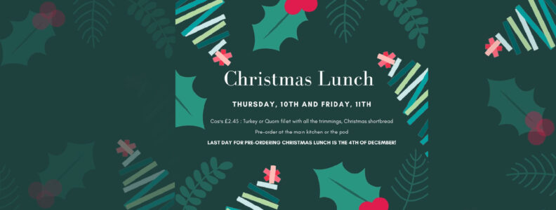 Pre-ordering Christmas Lunch