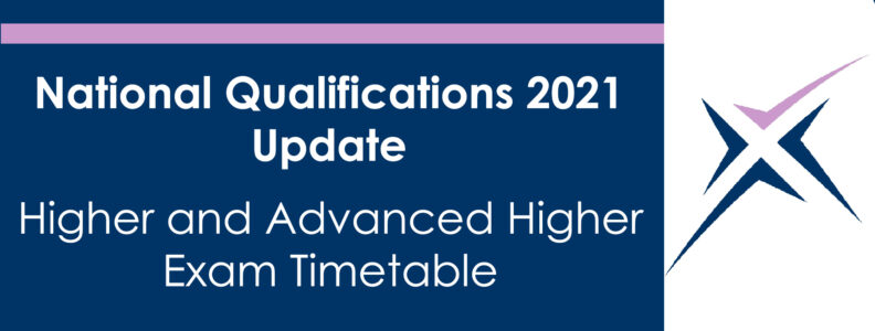 SQA Exam Timetable for Highers and Advanced Highers 2021